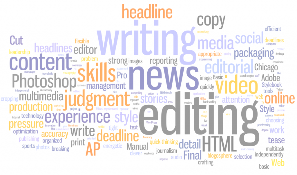 Web Journalist Blog » Skills