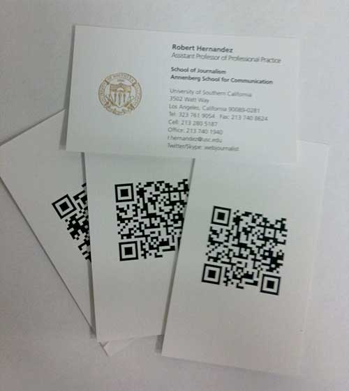 Web journalist blog sms qr code awesome geek business cards my business cards colourmoves