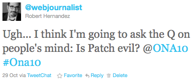 Ugh... I think I'm going to ask the Q on people's mind: Is Patch evil? @ONA10 #Ona10