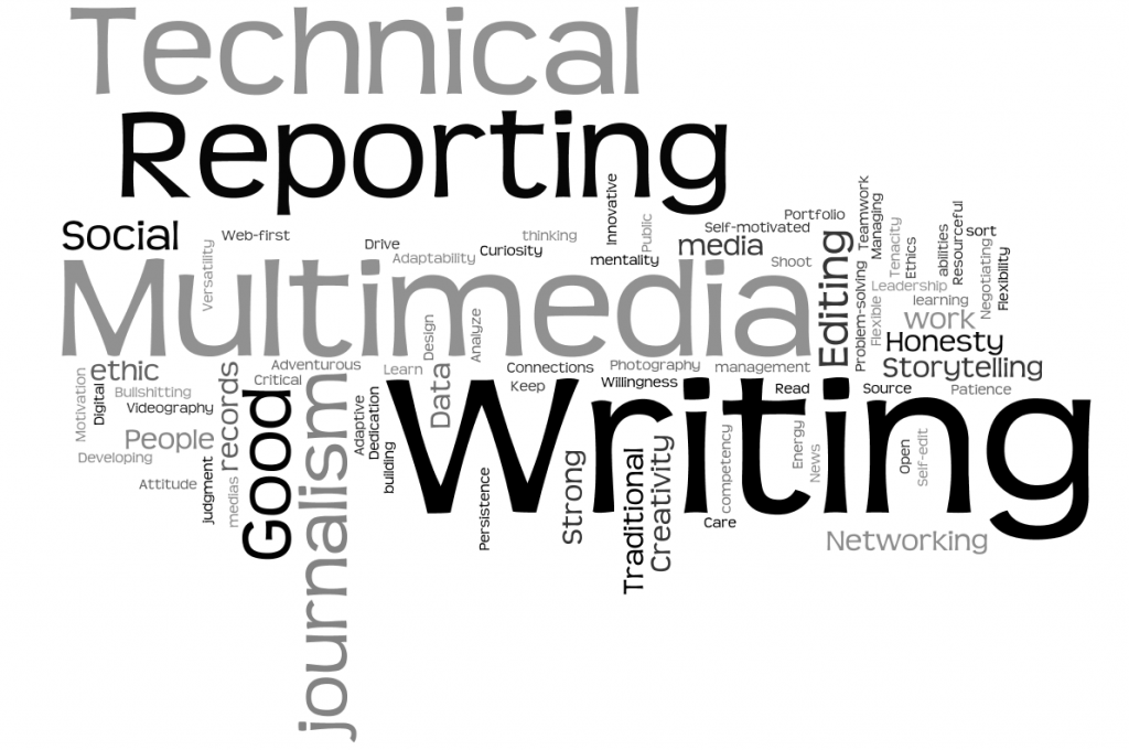Top three skills you think journalists need to get a job